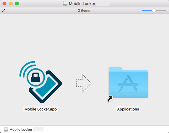 Drag Mobile Locker.app to the Applications folder.