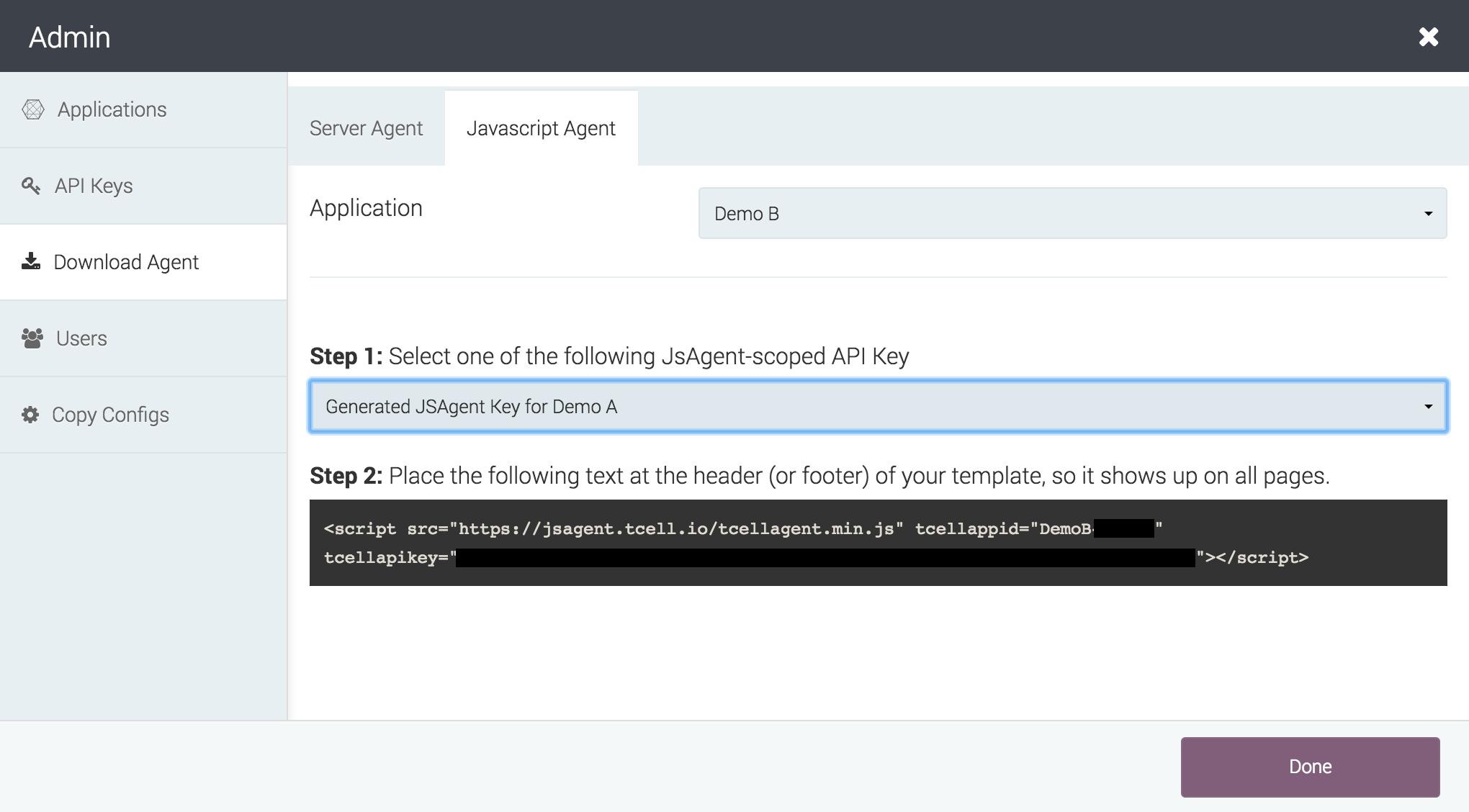 Add JavaScript Agent - Manual