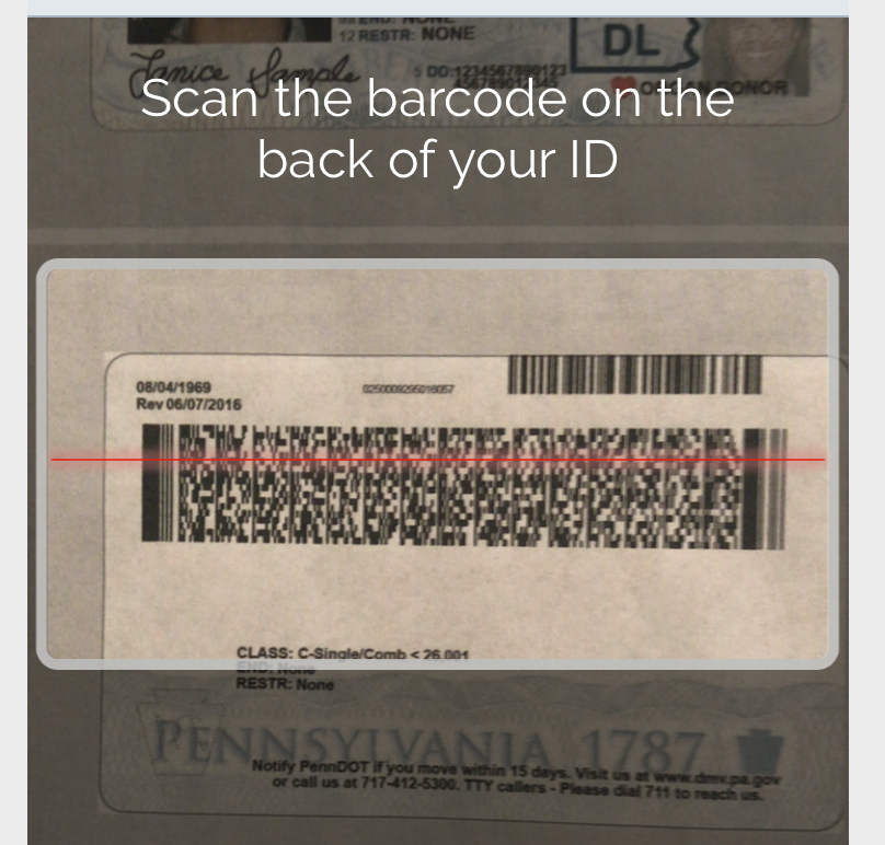Barcode scan on mobile web.