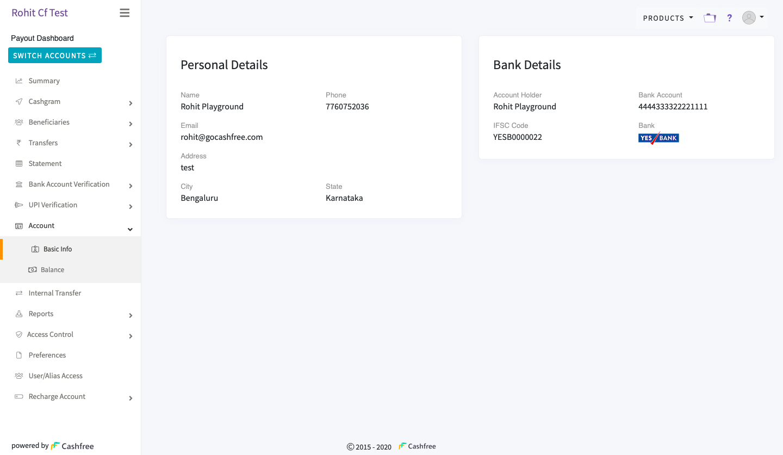 Account - Basic Information