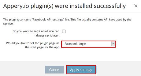 Facebook plugin.