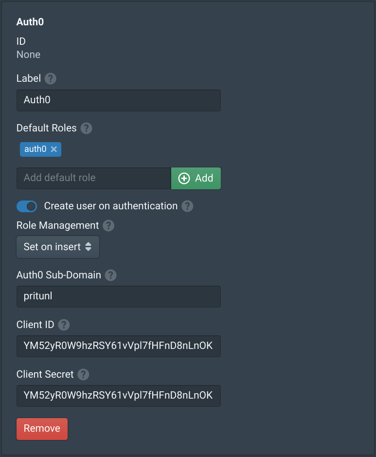 Auth0 Single Sign-On