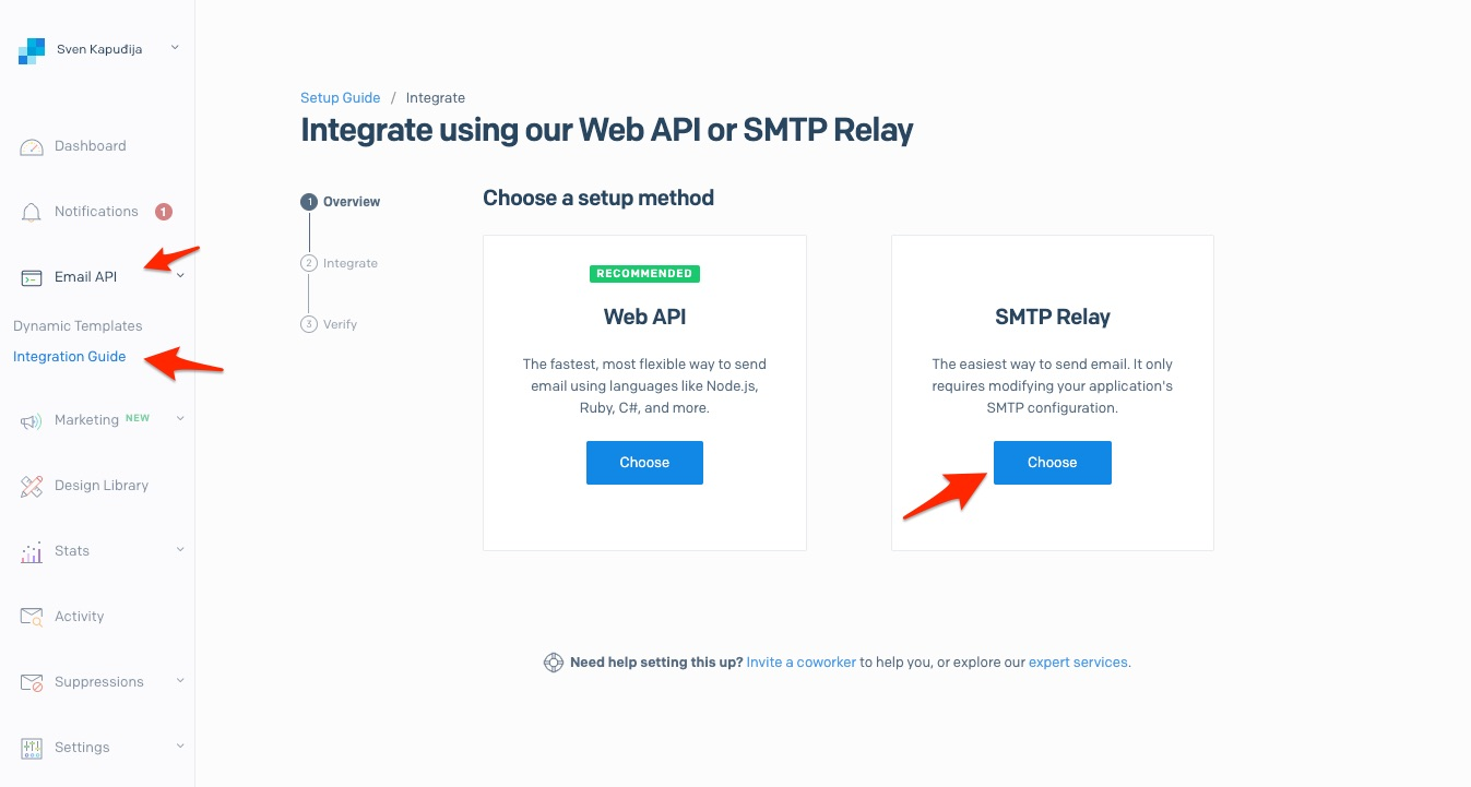 Setting up SMTP Relay