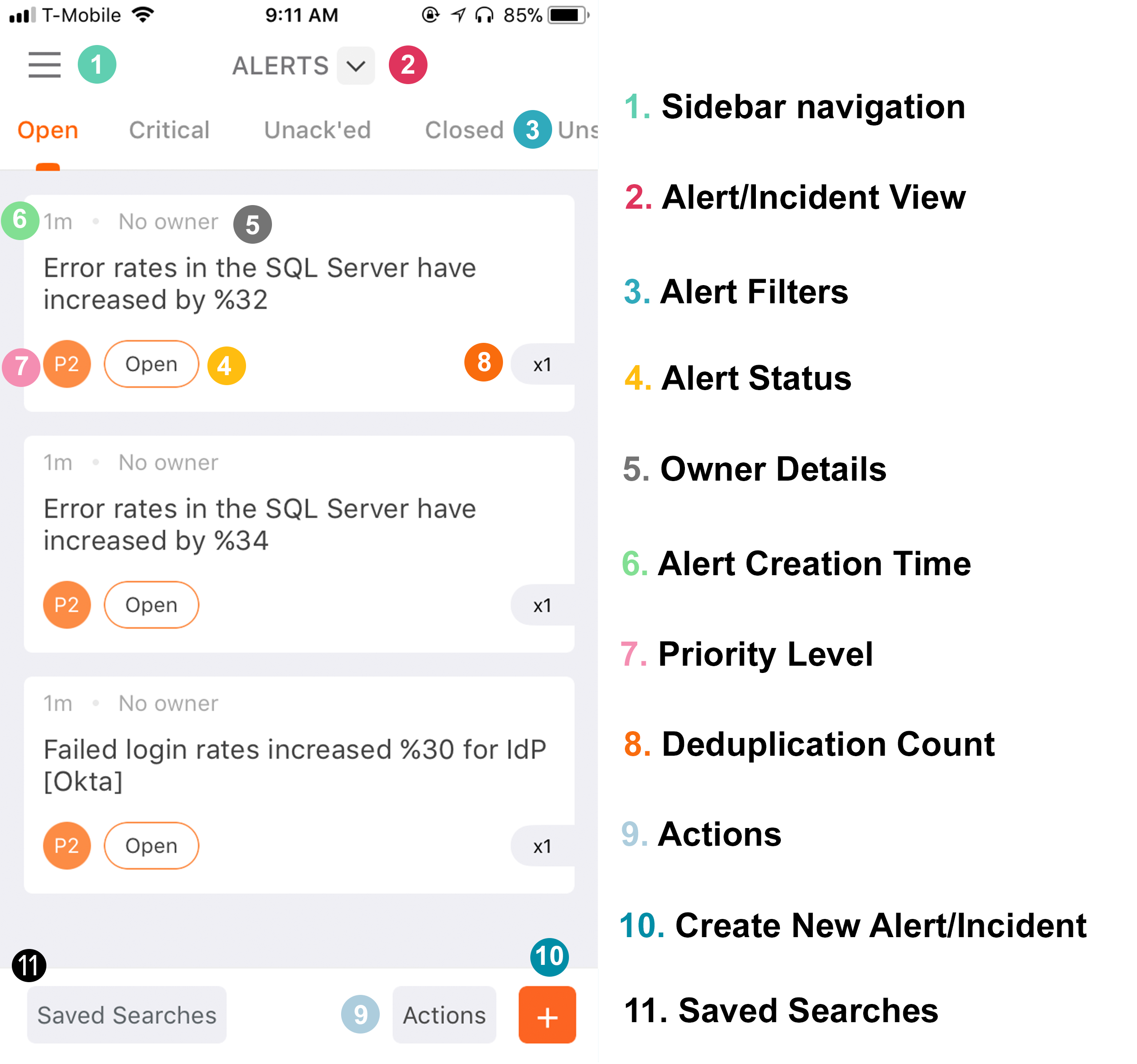 iOS - Alert List