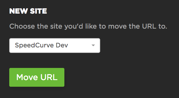 Choosing the site to move data too