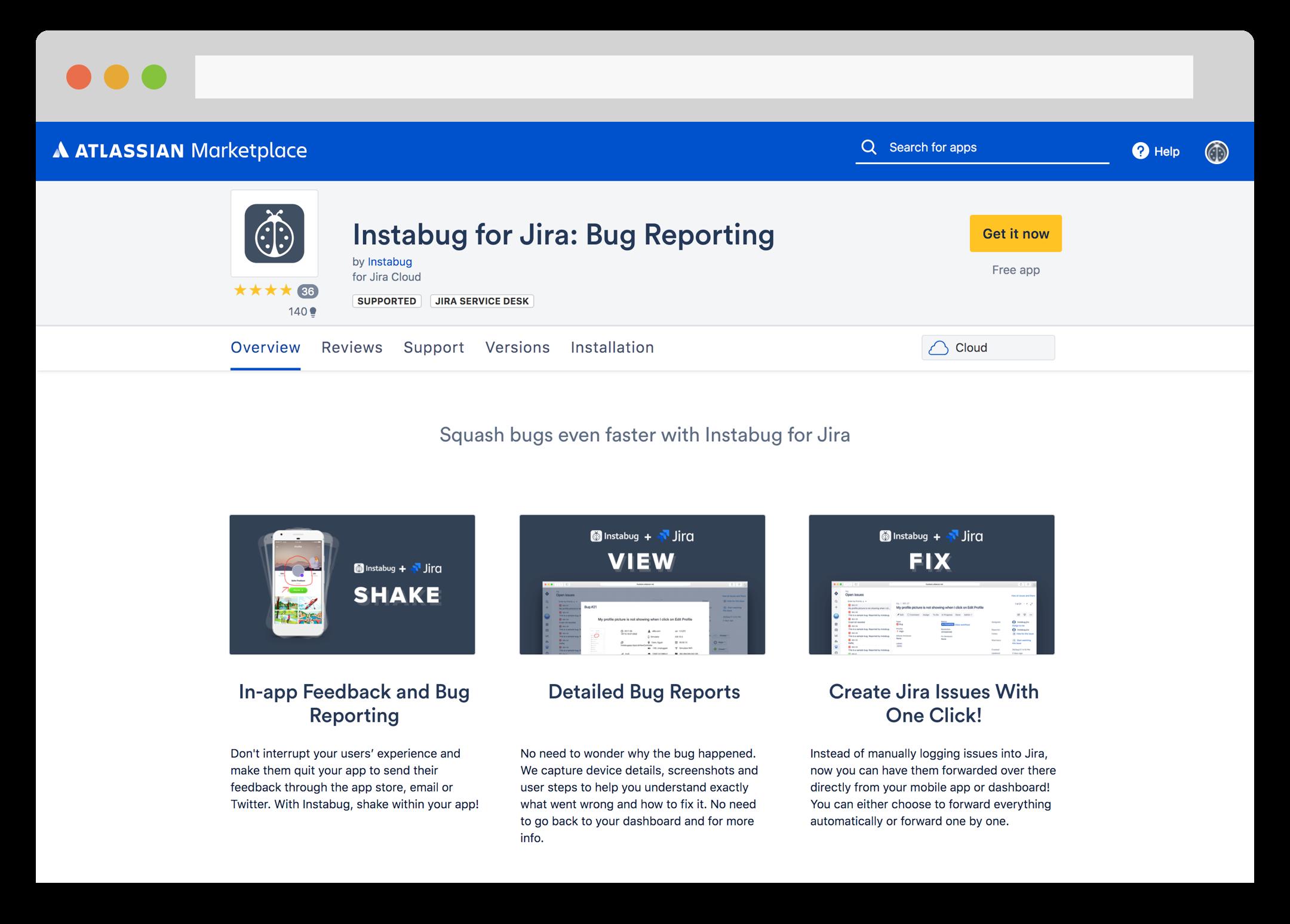 Instabug for JIRA add-on on Atlassian Marketplace