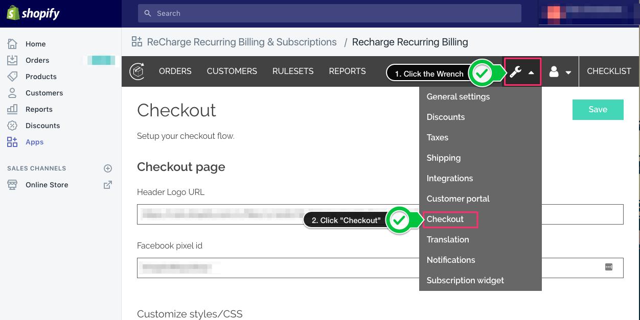 Shopify ReCharge Checkout