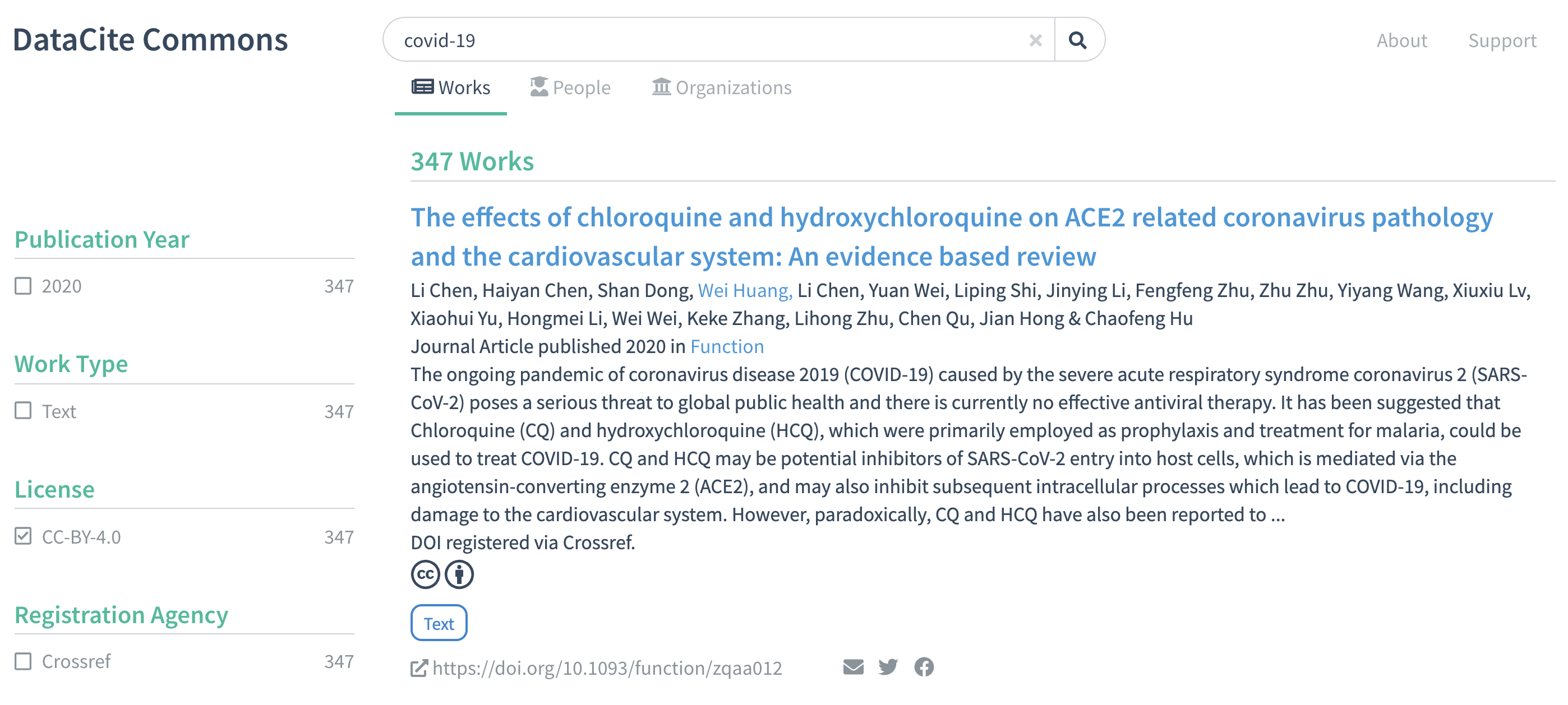 Search for works by keyword COVID-19, filtered by license CC-BY 4.0. https://commons.datacite.org/doi.org?query=covid-19&license=cc-by-4.0