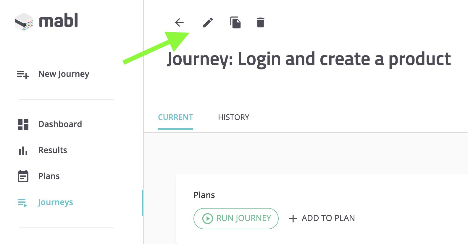 Edit journey details