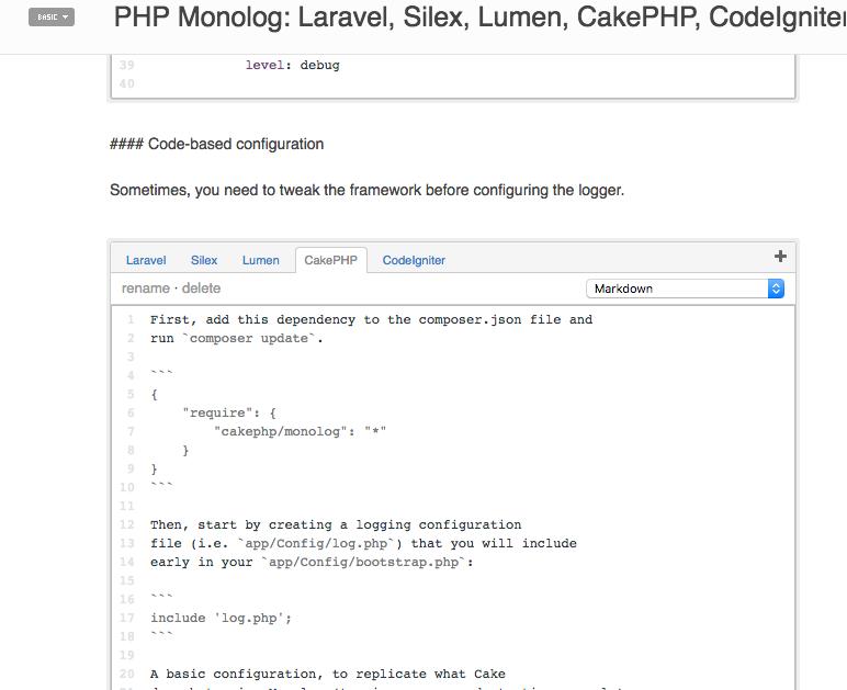 PHP Monolog documentation