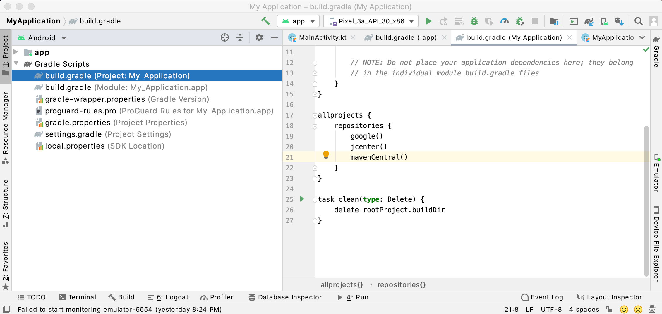 Add Maven Central to your Project-level Gradle file.