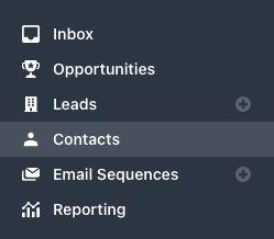 Contacts page in sidebar
