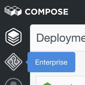 Accessing Enterprise through the Compose UI.