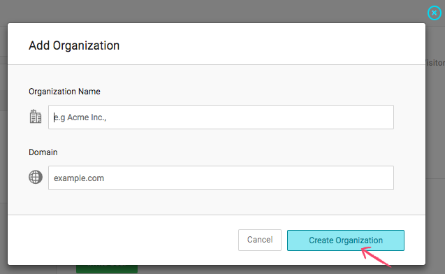 Adding Organization