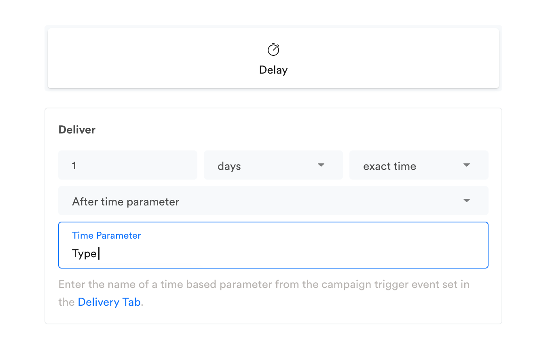 Enter the time parameter name