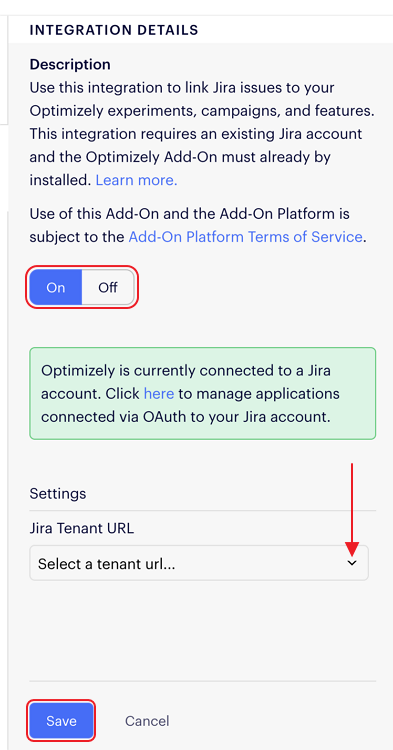 Docs - Integrate Optimizely with Jira