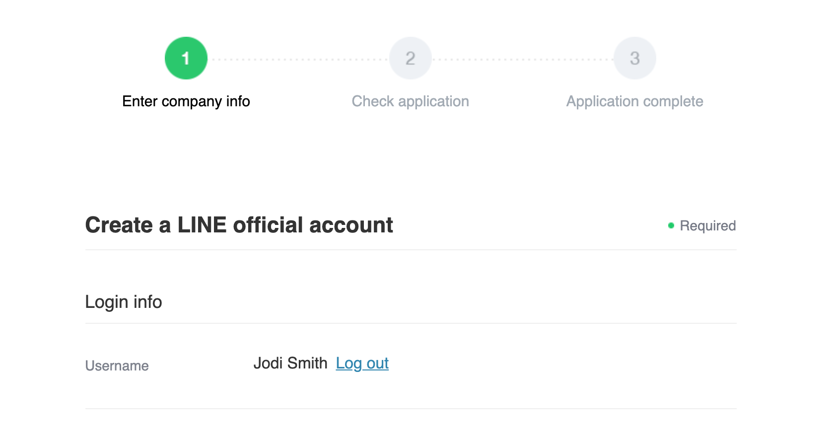 LINE Official Account Application