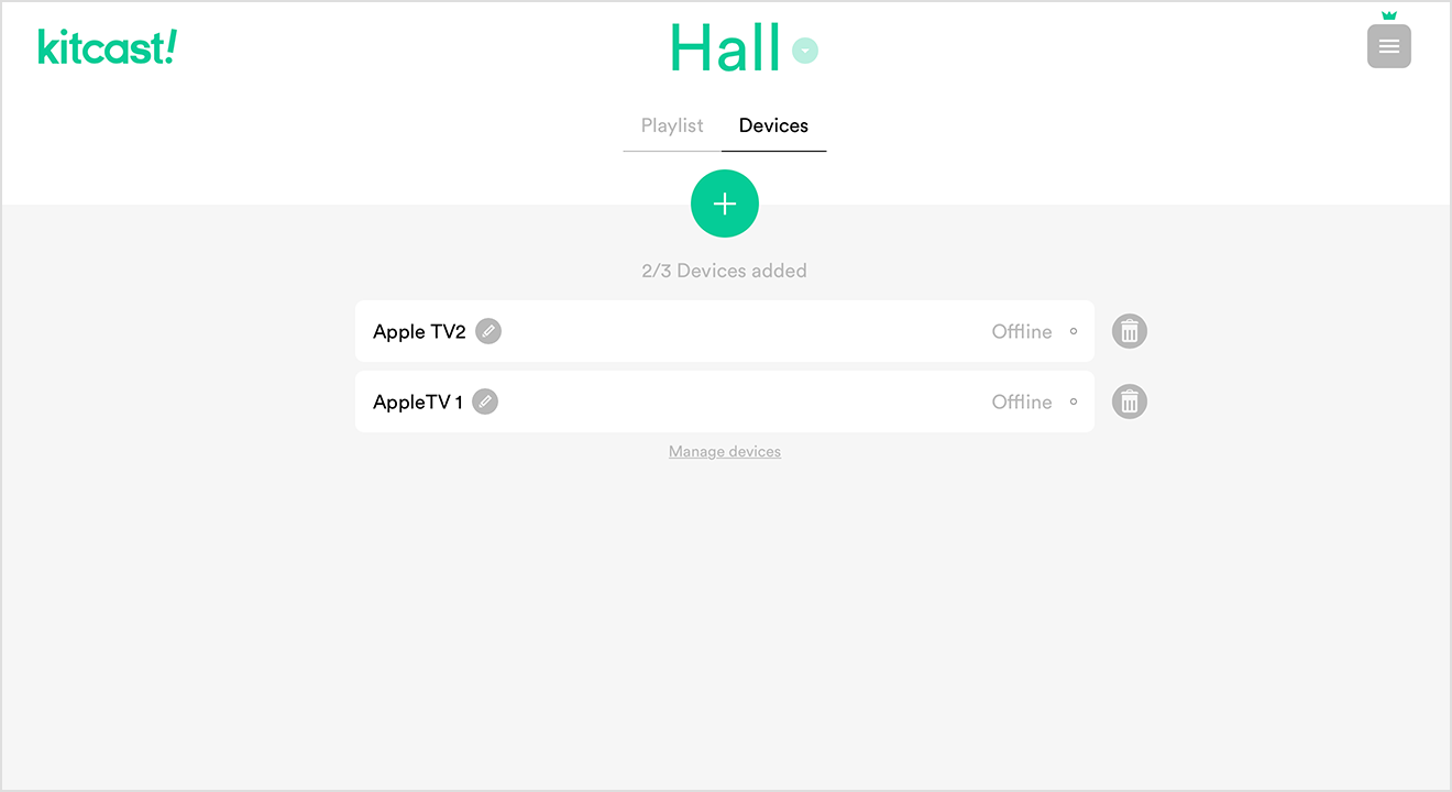 Thet's it. As you can see – AppleTV 1 Device is now Linked to Hall.