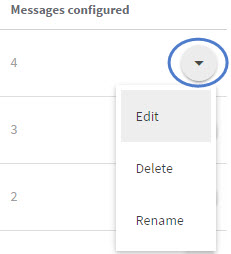 Figure 3: Modify Configured Messages
