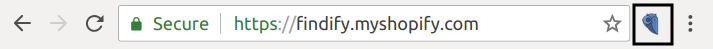 Click on the Findify icon to open the devtools interface