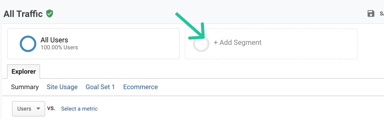 """Click """"Add Segment"""""""