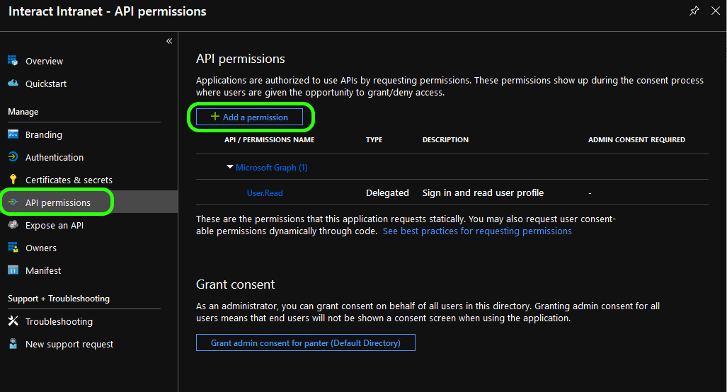 With Azure AD (Authentication Only)