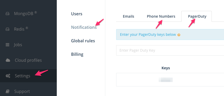 Alert Notifications: PagerDuty or Phone Numbers