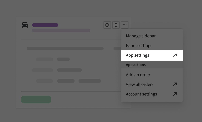 External link - app settings
