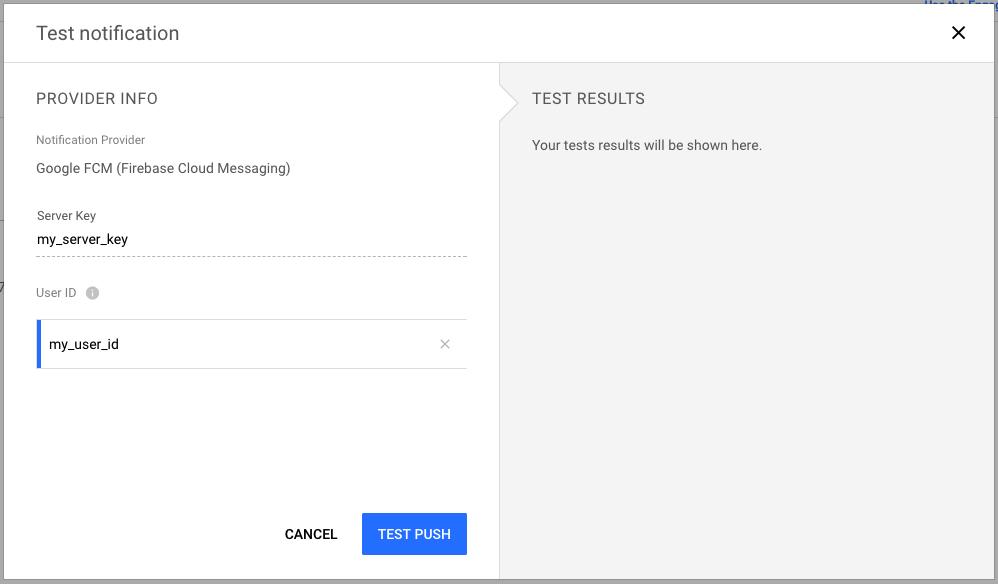 Testing push notifications