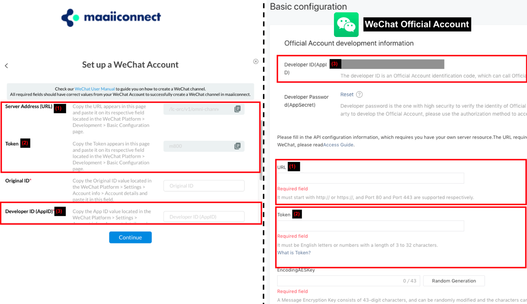 Setting up a new WeChat channel
