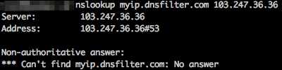 DNS request proxied away from DNSFilter