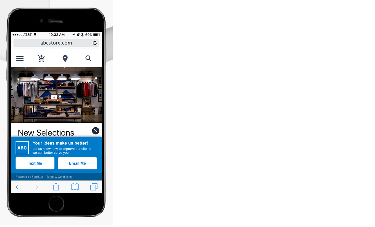 Here's an example of an invitation you can create for mobile devices using these configuration options.