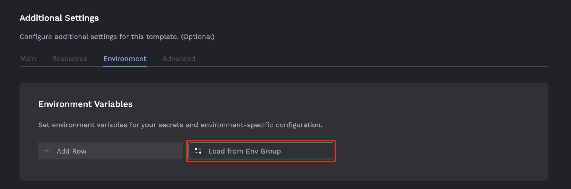 Load env group