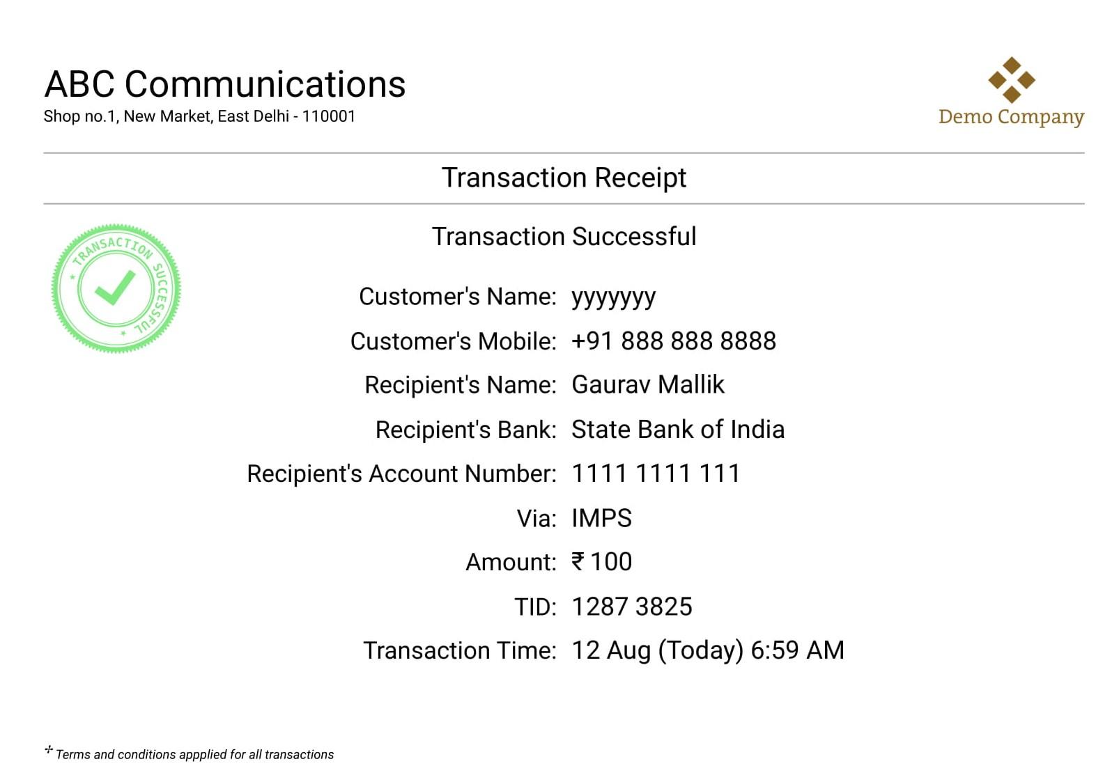 Verify Bank Account Details