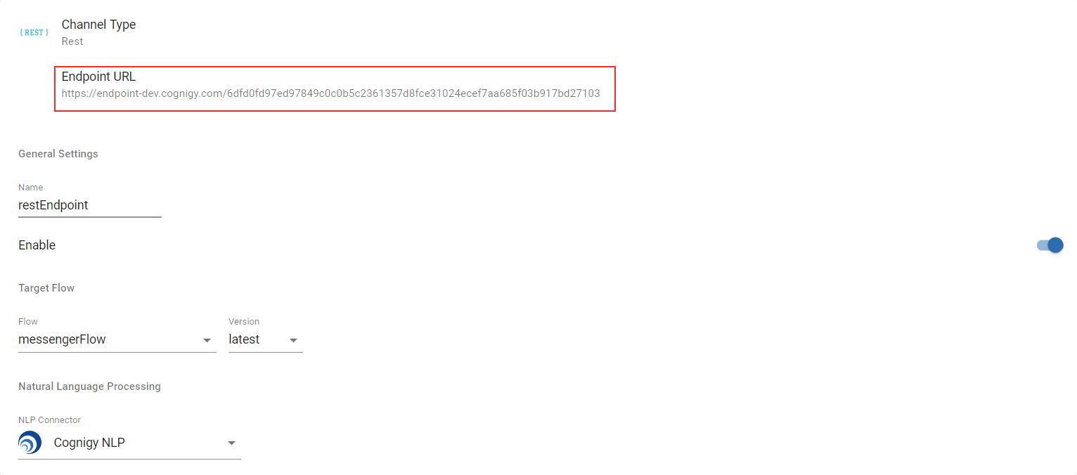 Figure 1.2: REST Endpoint Configuration Page