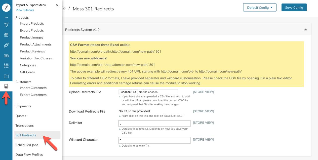 Importing URL Rewrite - 301 Redirect