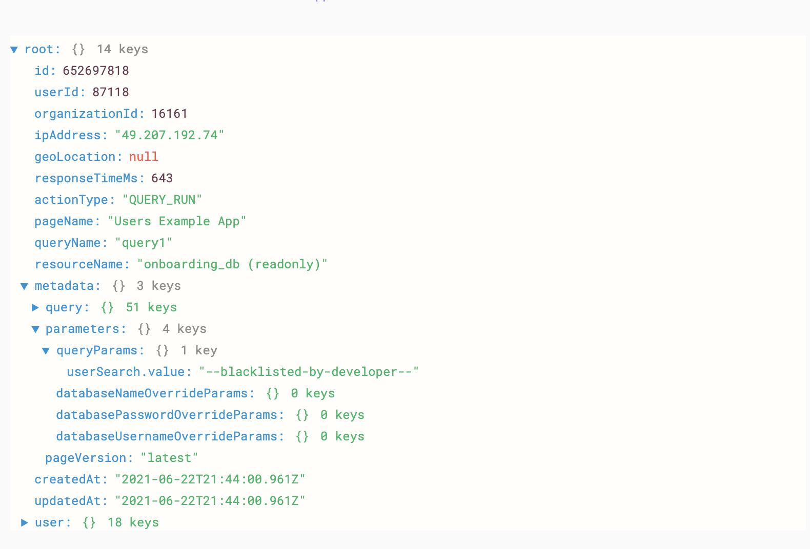 Blacklisting the value of `textinput1.value`.