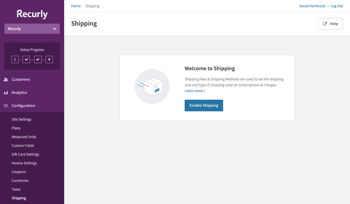 This is the screen you will see when configuring shipping for the first time.