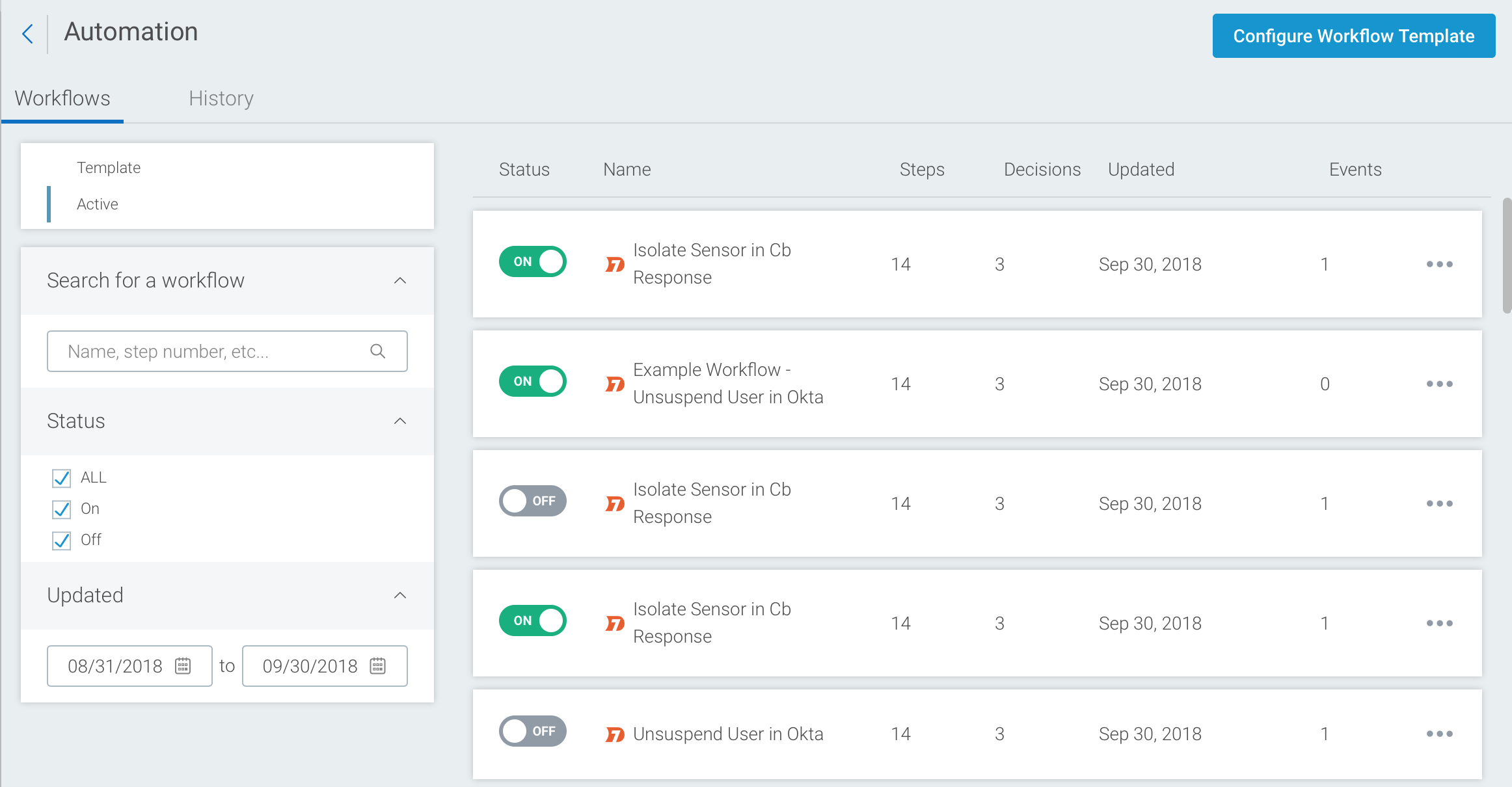 Automation Workflow Templates