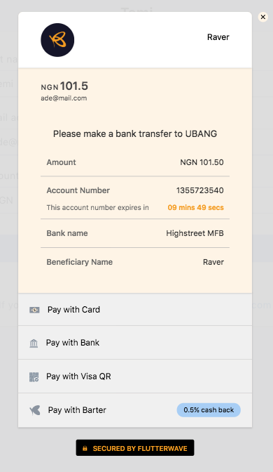 Pay With Bank Transfers