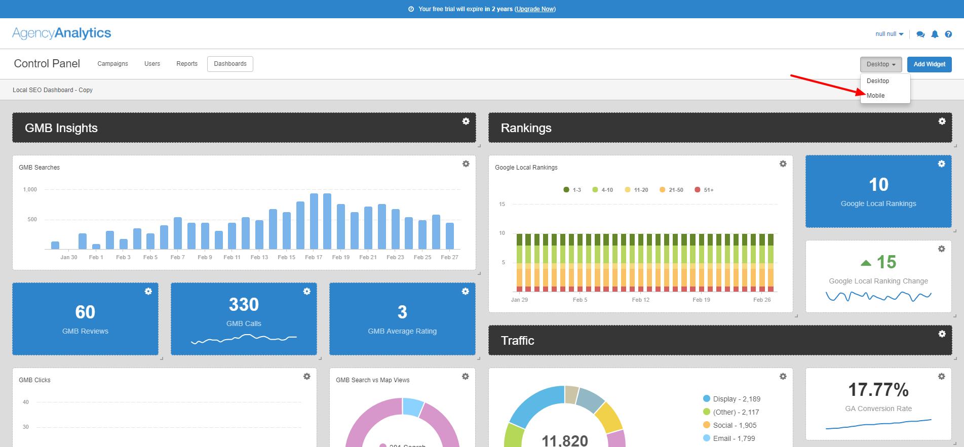 Dashboard Templates - Analytics dashboard template