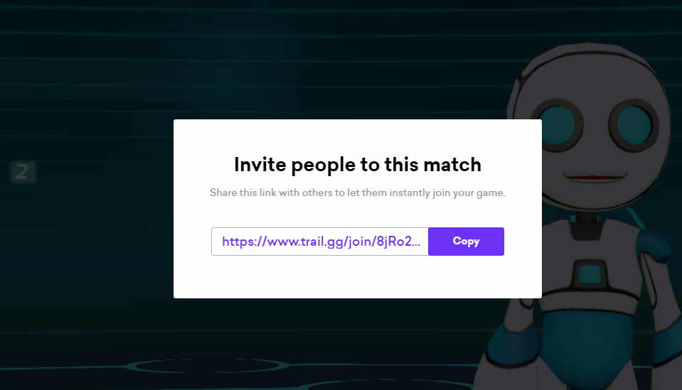 The invite link after it is generated in-game.