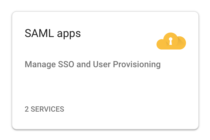 SAML app tile