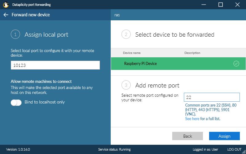 File transfer via Porthole