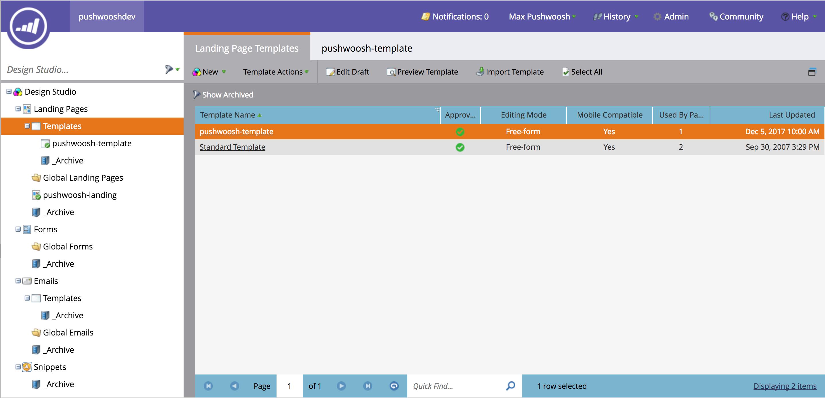 Marketo Integration - Marketo landing page templates