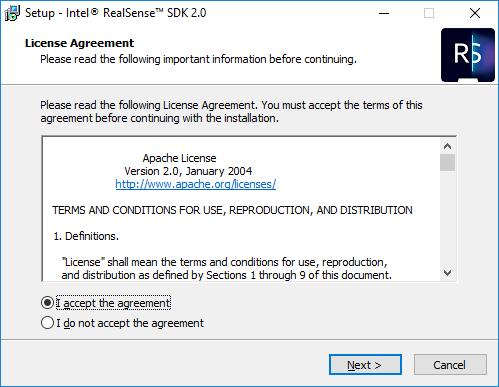 Windows installation of Intel RealSense SDK 2 0