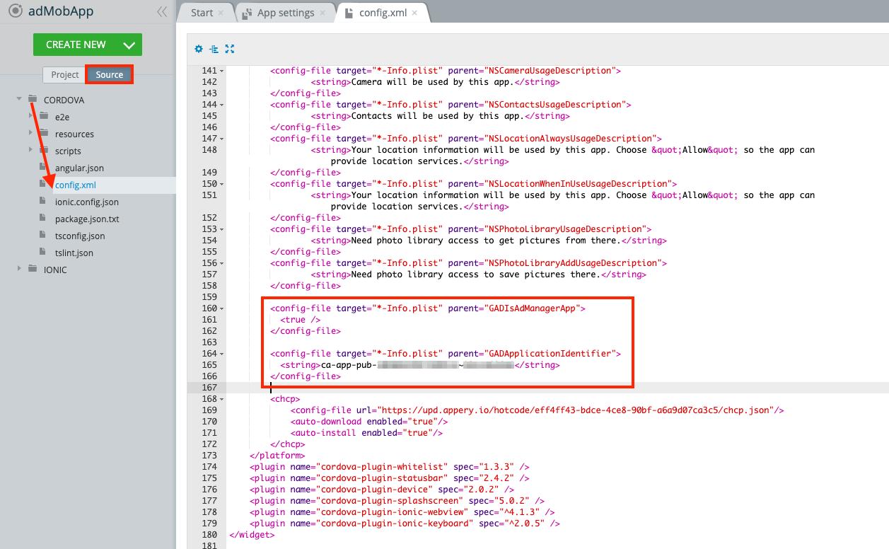 Editing config.xml file