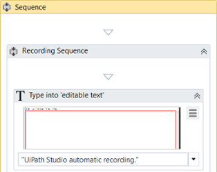 example of automatic recording with basic and desktop