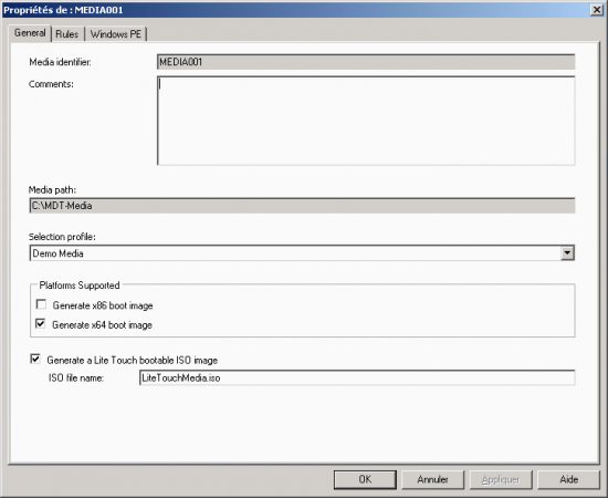 MDT scenario for creating an ISO image Windows · ceBox