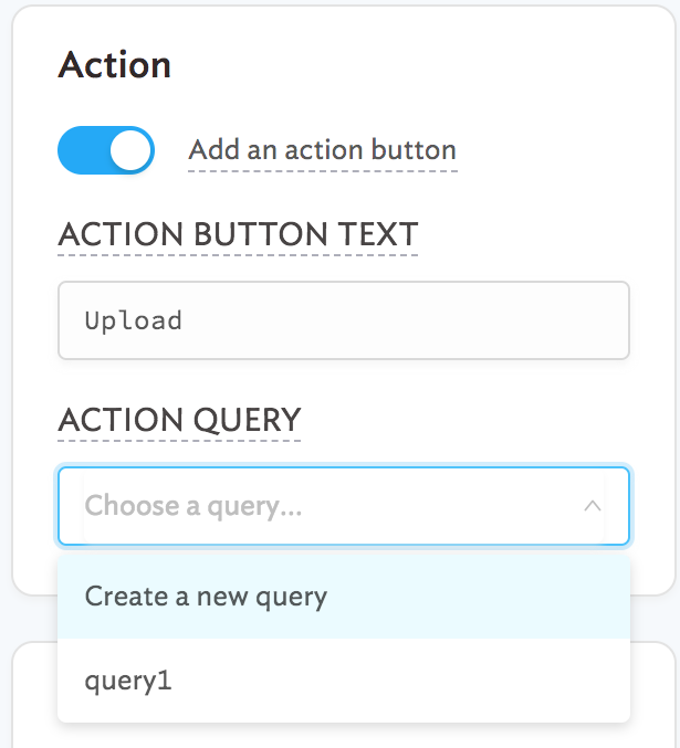 Adding an action button on our `Table`.